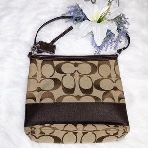 Coach Signature Canvas Crossbody Handbag
